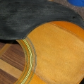 A poorly installed pick guard - Area has already been cleaned, I will install a new one slightly ove