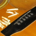60's Martin D35 - Bridge pins & saddle have seen their day, also needs new bridge. Pic 1