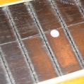 Cracked finger board, a look without the frets. Pic 4