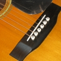 New bridge, bone saddle, & bridge pins. New pick guard. (Still has protective plastic) Pic 8